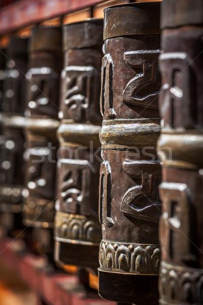 Buddhist prayer wheels Stock photo © dmitry_rukhlenko