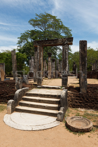 Rovine antica città Sri Lanka rock pietra Foto d'archivio © dmitry_rukhlenko