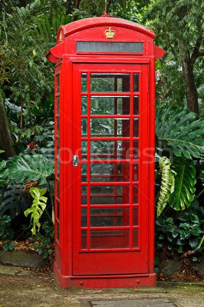 赤 英語 電話 ブース ビジネス 電話 ストックフォト © dmitry_rukhlenko