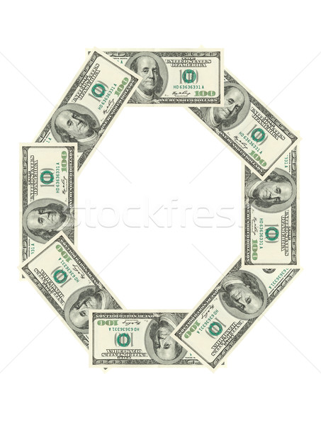 Letter O made of dollars Stock photo © dmitry_rukhlenko