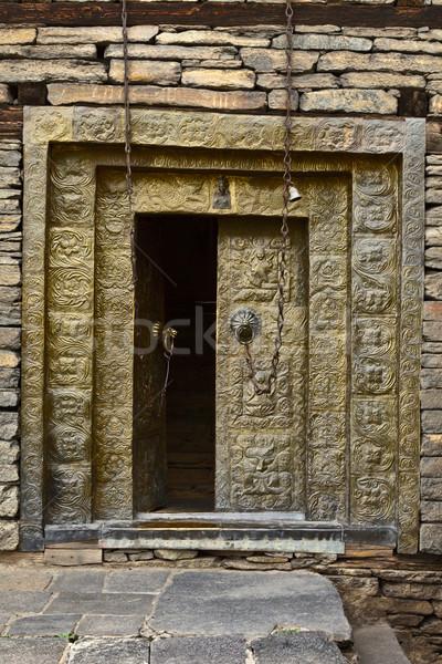 Fort tempel deur aanbidden architectuur godsdienst Stockfoto © dmitry_rukhlenko