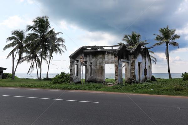 Ev tsunami Sri Lanka plaj ören kimse Stok fotoğraf © dmitry_rukhlenko
