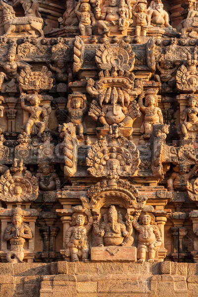 Tempel toren sculptuur Indië grootst groot Stockfoto © dmitry_rukhlenko