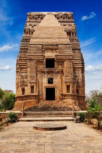 Teli Ka Mandir Hindu temple in Gwalior fort Stock photo © dmitry_rukhlenko