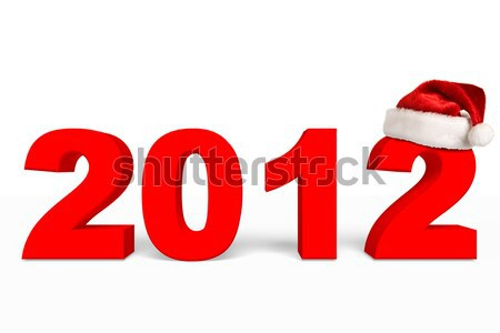 2012 ano novo natal planeta seis branco Foto stock © dmitry_rukhlenko