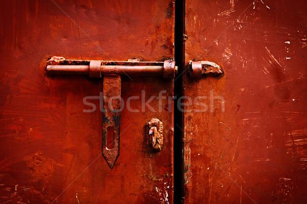 Latch on the door Stock photo © dmitry_rukhlenko
