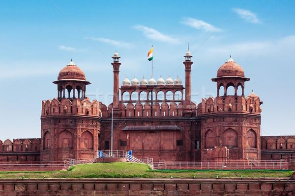 Rood fort Delhi Indië wereld erfgoed Stockfoto © dmitry_rukhlenko