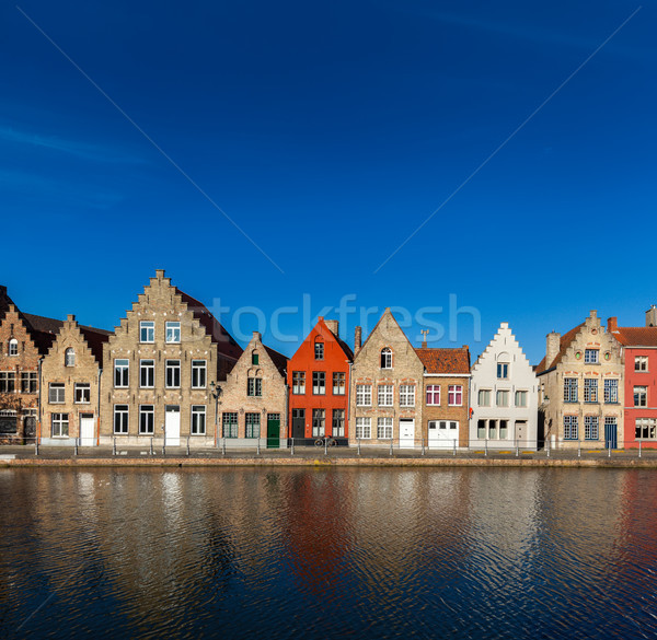 европейский города Бельгия типичный Европа Cityscape Сток-фото © dmitry_rukhlenko