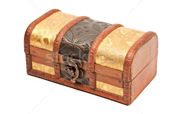 Bois bijoux boîte isolé indian style Photo stock © dmitry_rukhlenko