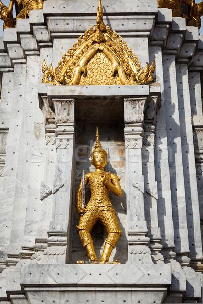 Gold guard on tower, Wat Phi, Thailand Stock photo © dmitry_rukhlenko