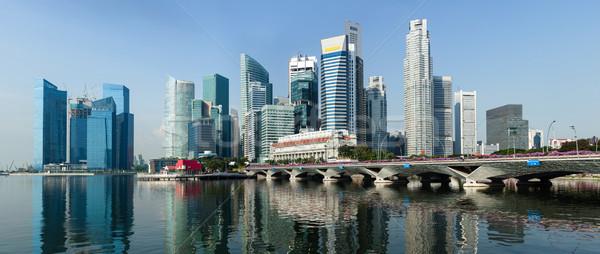 Singapore business centrum panorama zakenwijk water Stockfoto © dmitry_rukhlenko