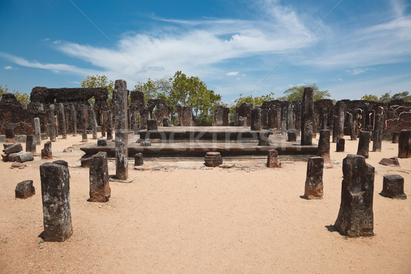 Ruínas antigo cidade Sri Lanka Foto stock © dmitry_rukhlenko
