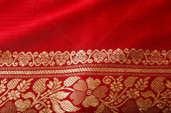 Indian sari close up Stock photo © dmitry_rukhlenko
