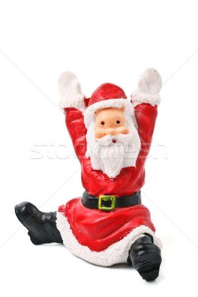 Santa Clause figurine isolated Stock photo © dmitry_rukhlenko
