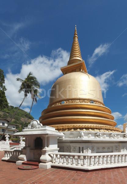 Buddhist dagoba (stupa) in Golden Temple, Dambulla, Sri Lanka Stock photo © dmitry_rukhlenko