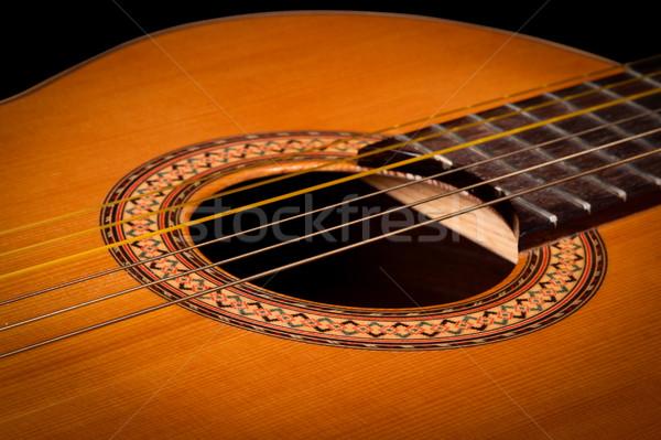 Klassiek gitaar donkere hout Stockfoto © dmitry_rukhlenko