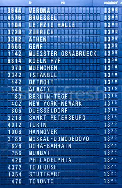 Depature schedule board in airport Stock photo © dmitry_rukhlenko