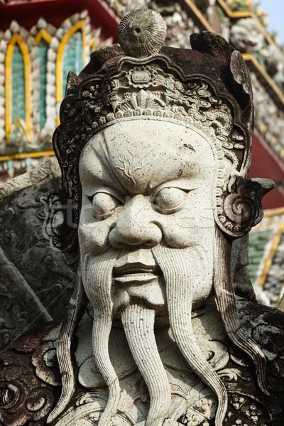 Pedra guardião estátua Tailândia chinês Foto stock © dmitry_rukhlenko