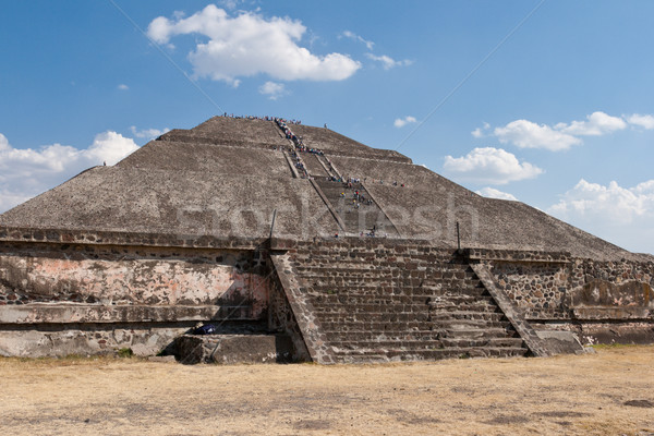 Pyramid of the Sun. Teotihuacan, Mexico Stock photo © dmitry_rukhlenko