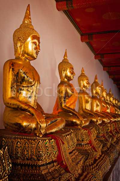 Sitting Buddha statues, Thailand Stock photo © dmitry_rukhlenko