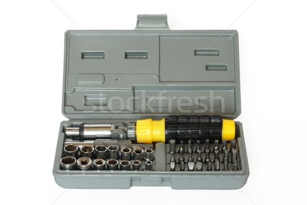 Screw driver and spanner kit Stock photo © dmitry_rukhlenko