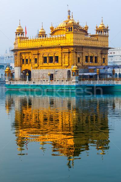 Or temple sikh piscine architecture réservoir Photo stock © dmitry_rukhlenko