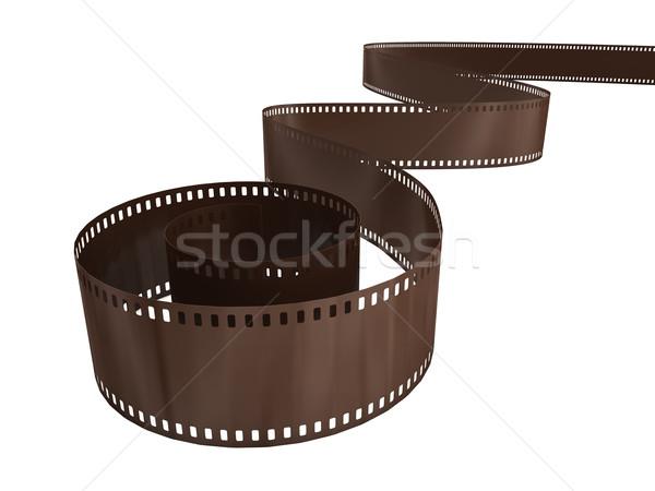 Zdjęcia stock: Fotografia · film · refleksji · biały · działalności · tle