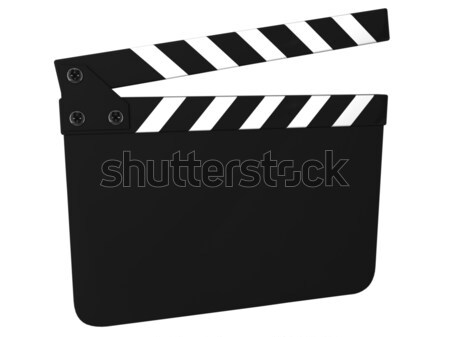 Blank clapboard isolated Stock photo © dmitry_rukhlenko