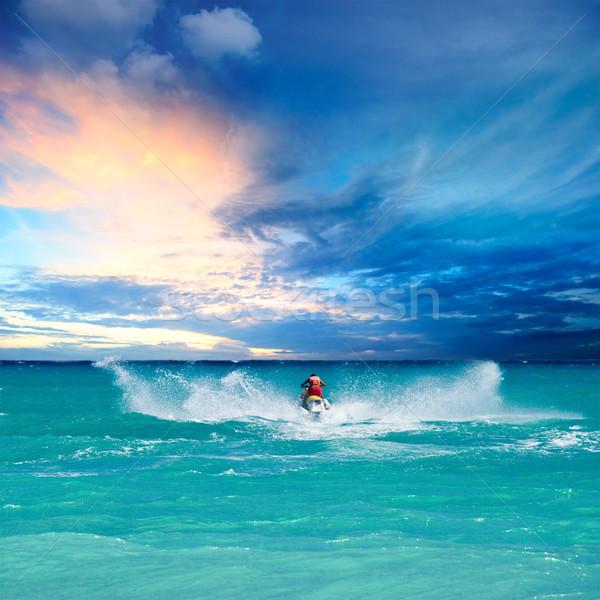 Man riding jet ski Stock photo © dmitry_rukhlenko