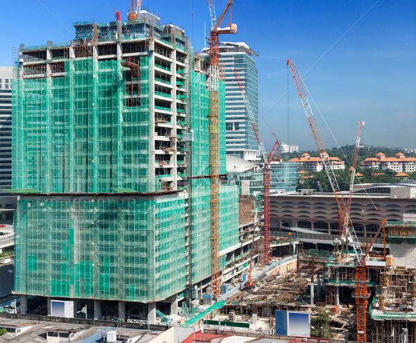 Modern bina Bina inşaat çalışmak sanayi Stok fotoğraf © dmitry_rukhlenko