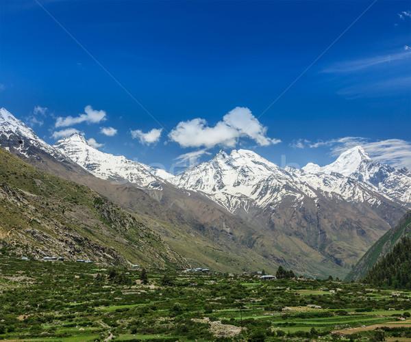 谷 ヒマラヤ山脈 自然 風景 山 風景 ストックフォト © dmitry_rukhlenko