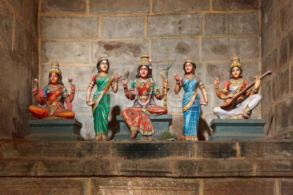 Hindu goddesses Parvati, Lashmi and Saraswati Stock photo © dmitry_rukhlenko