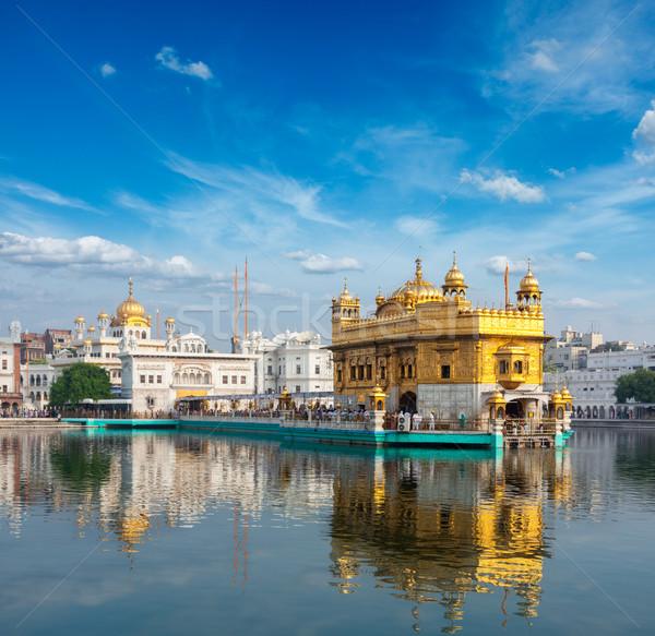 Or temple sikh eau piscine architecture Photo stock © dmitry_rukhlenko