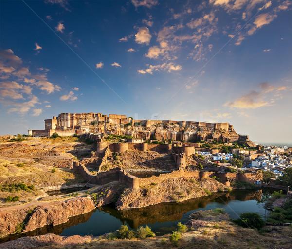 Fort India tramonto natura viaggio rock Foto d'archivio © dmitry_rukhlenko