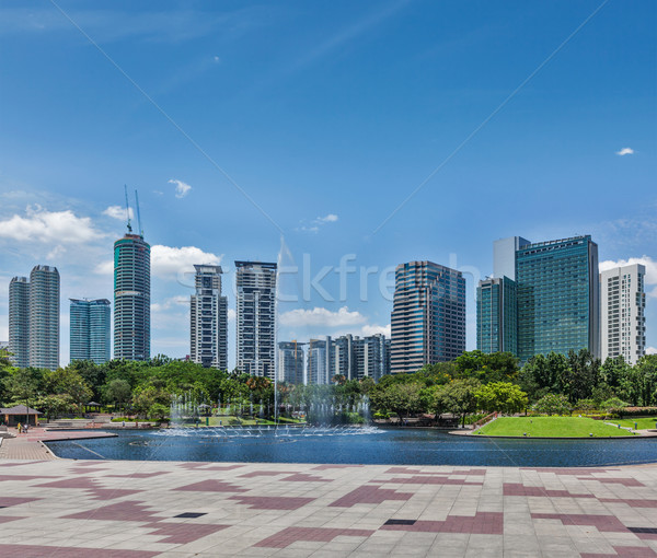 Skyline of Central Business District of Kuala Lumpur, Malaysia Stock photo © dmitry_rukhlenko