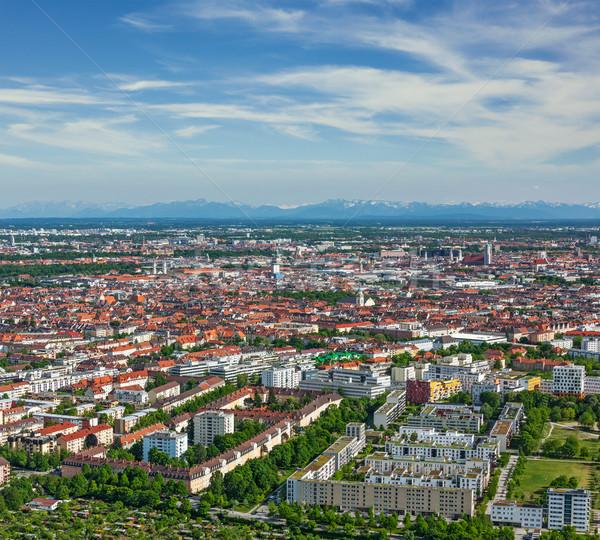 Munique Alemanha torre montanhas Foto stock © dmitry_rukhlenko