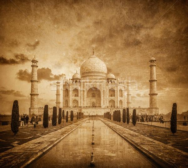 Taj Mahal klasszikus kép India indiai szimbólum Stock fotó © dmitry_rukhlenko