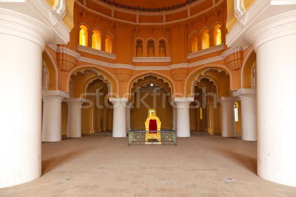 Tirumalai Nayal Palace. Madurai, Tamil Nadu, India Stock photo © dmitry_rukhlenko