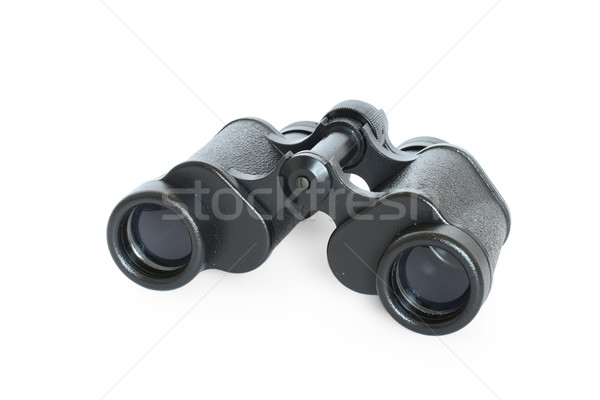 Black binoculars isolated on white background Stock photo © dmitry_rukhlenko