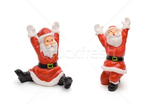 Kerstman geïsoleerd witte textuur achtergrond speelgoed Stockfoto © dmitry_rukhlenko