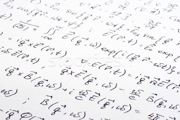 Scientific writing close up Stock photo © dmitry_rukhlenko