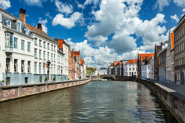 Бельгия канал старые домах воды дома Сток-фото © dmitry_rukhlenko