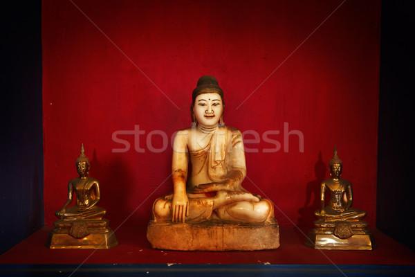 Foto stock: Buda · imagem · China · escuro · foto