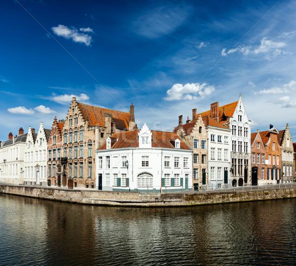 Benelux podróży kanał średniowiecznej domów wody Zdjęcia stock © dmitry_rukhlenko