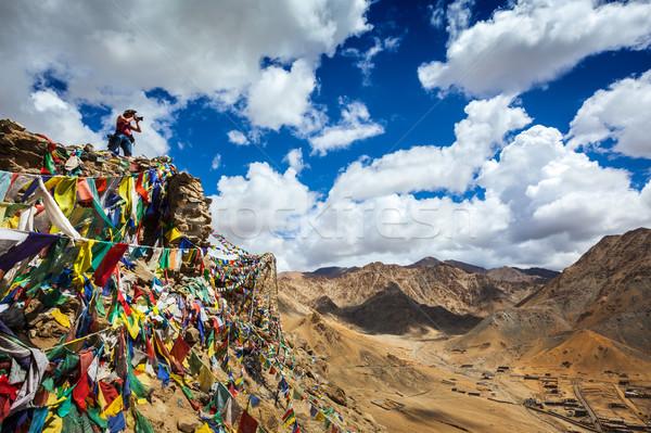Fotógrafo fotos himalaia viajar montanhas Foto stock © dmitry_rukhlenko
