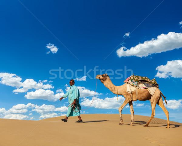 Teve sofőr tevék India utazás indiai Stock fotó © dmitry_rukhlenko