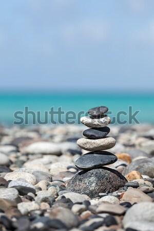 Zen сбалансированный камней баланса мира Сток-фото © dmitry_rukhlenko