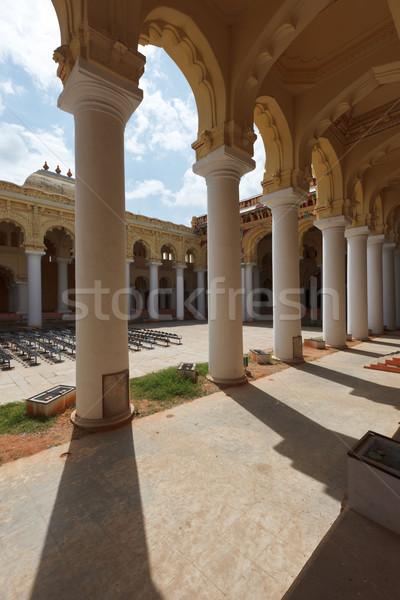 Tirumalai Nayak Palace. Madurai, Tamil Nadu, India Stock photo © dmitry_rukhlenko
