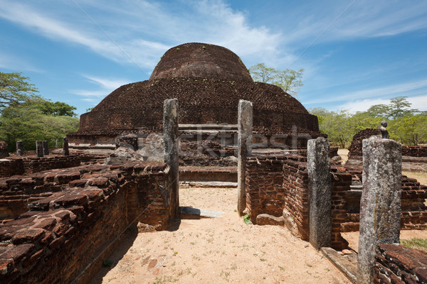 Ancient Buddhist dagoba (stupe) Pabula Vihara Stock photo © dmitry_rukhlenko
