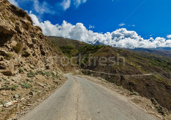Weg himalayas vallei auto berg vrachtwagen Stockfoto © dmitry_rukhlenko